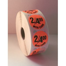 "2/$4.00 w/card - 1.25"" Red Label Roll"