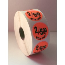 "2/$5.00 w/card - 1.25"" Red Label Roll"