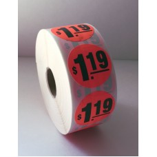 "$1.19 - 1.375"" Red Label Roll"