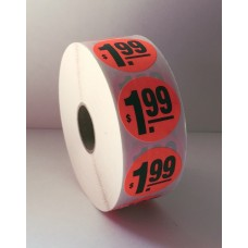 "$1.99 - 1.375"" Red Label Roll"
