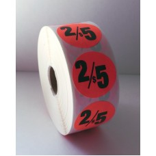 "2/$5 - 1.375"" Red Label Roll"