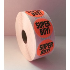 "Super Buy - 1.375"" Red Label Roll"