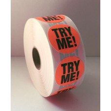 "Try Me! - 1.375"" Red Label Roll"