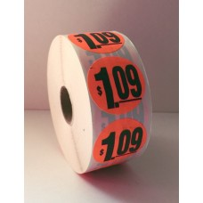 "$1.09 - 1.5"" Red Label Roll"