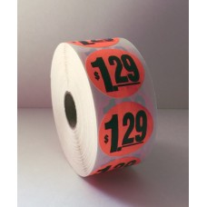 "$1.29 - 1.5"" Red Label Roll"