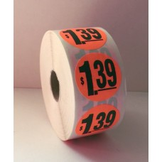 "$1.39 - 1.5"" Red Label Roll"