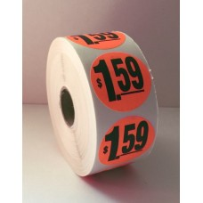 "$1.59 - 1.5"" Red Label Roll"