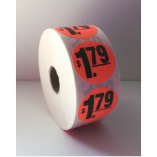 "$1.79 - 1.5"" Red Label Roll"