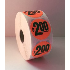 "$2 - 1.5"" Red Label Roll"