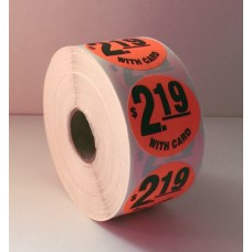 "$2.19 w/card - 1.5"" Red Label Roll"