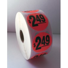 "$2.49 - 1.5"" Red Label Roll"