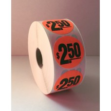 "$2.50 - 1.5"" Red Label Roll"