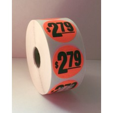 "$2.79 - 1.5"" Red Label Roll"