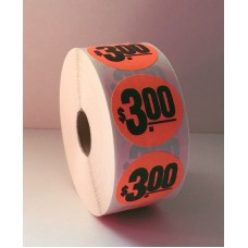 "$3.00 - 1.5"" Red Label Roll"