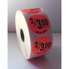 "2/$3.00 w/card - 1.5"" Red Label Roll"