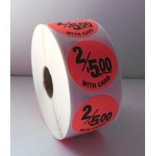 "2/$5.00 w/card - 1.5"" Red Label Roll"