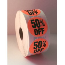 "50% Off - 1.5"" Red Label Roll"