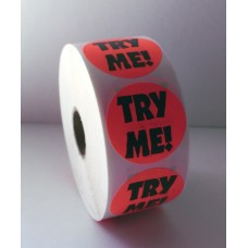 "Try Me! - 1.5"" Red Label Roll"