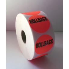 "Rollback - 1.5"" Red Label Roll"