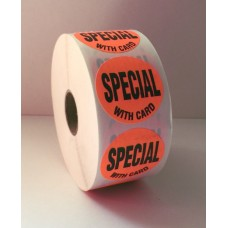 "Special w/card - 1.5"" Red Label Roll"