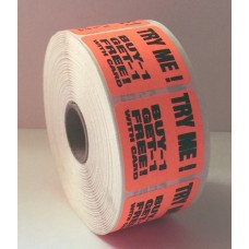 "1.5"" Tear-Off Label Roll - Red"