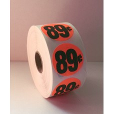 "$.89 - 1.5"" Red Label Roll"