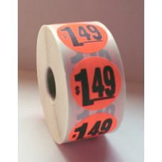 "$1.49 - 1.5"" Red Label Roll"