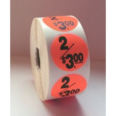 "2/$3.00 - 1.5"" Red Label Roll"
