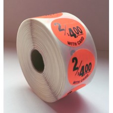 "2/$4.00 w/card - 1.5"" Red Label Roll"