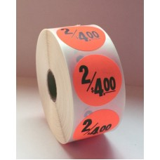 "2/$4 - 1.375"" Red Label Roll"