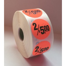 "2/$5.00 - 1.5"" Red Label Roll"