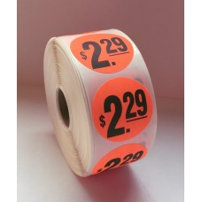 "$2.29 - 1.5"" Red Label Roll"