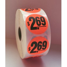 "$2.69 - 1.5"" Red Label Roll"