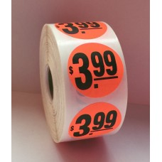 "$3.99 - 1.5"" Red Label Roll"