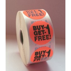 "BOGO - 1.5"" Red Label Roll"