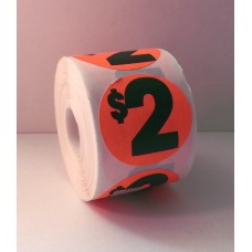 "$2 - 2"" Red Label Roll"