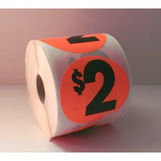 "$2 - 2.5"" Red Label Roll"