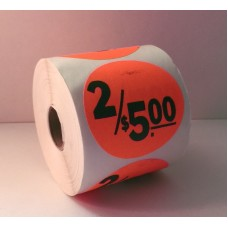 "2.5"" Round Label Roll"